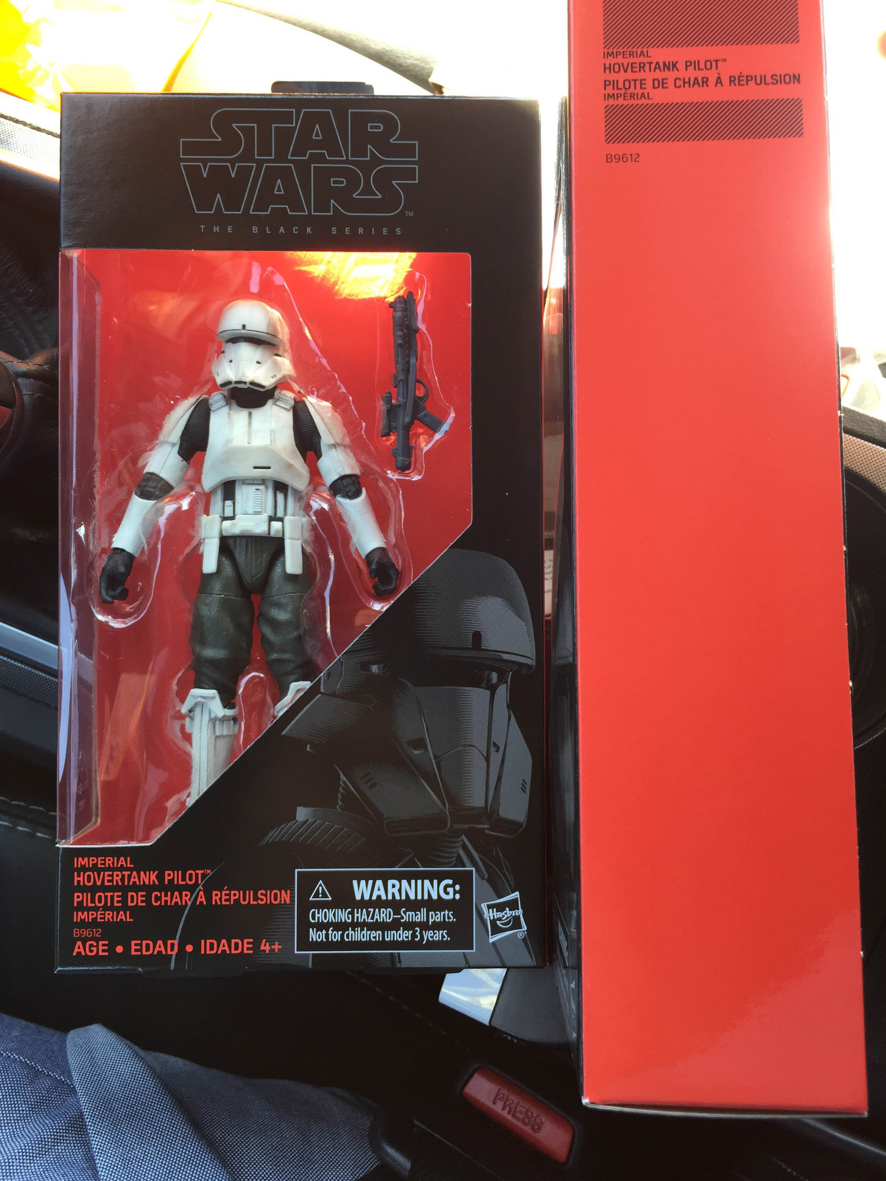 figurine star wars black collector 15cm pilote rhino trooper