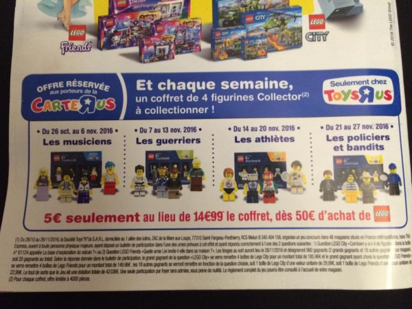 Mini-figurines LEGO exclu Toys R Us 2016