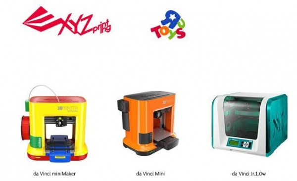 Donner une nouvelle dimension au jeu  Toys'R'Us s'associe à XYZprinting pour proposer des imprimantes 3D abordables