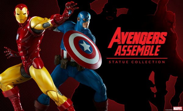 Iron Man et Captain America  Avengers Assemble Statue Collection