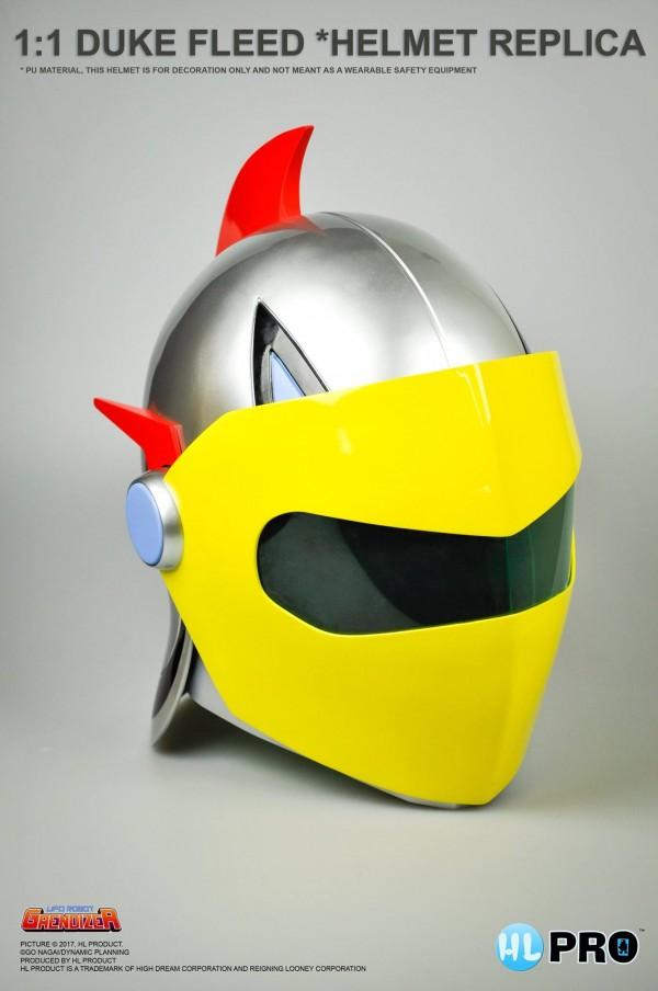 """1:1 Duke Fleed """"Helmet Replica"""" Goldorak ACTARUS"""