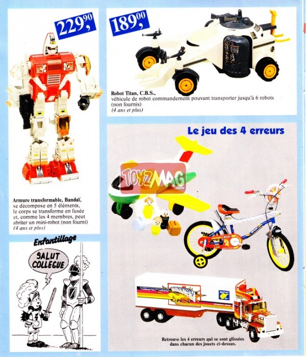 Bonus Nostalgique Catalogue Carrefour Gennevilliers 1985