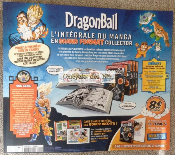 N° 1 Manga Dragon Ball  GRAND FORMAT HACHETTE COLLECTION