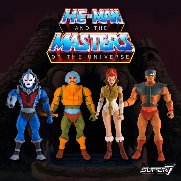 Club Grayskull Wave 1: Hordak, Man-At-Arms, Teela, Tri-Klops MOTUC SUPER7