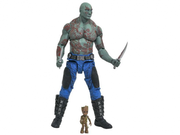 Drax et Baby Groot Marvel Select DST MOVIE GOTG VOL2