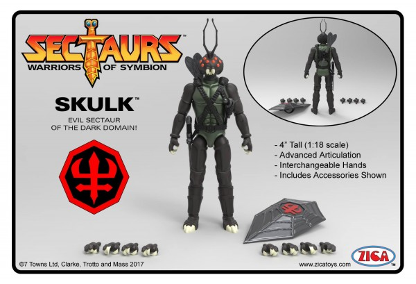 The next figure reveal for our new Sectaurs line is Skulk!