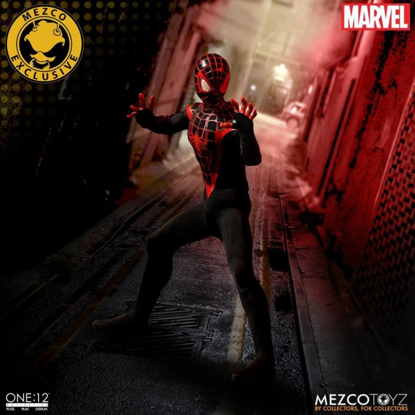 SDCC Mezco One:12 Collective Miles Morales Spider-Man