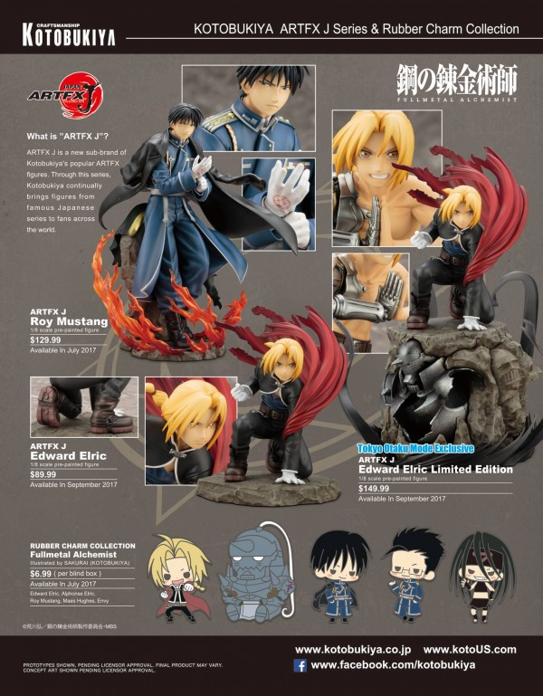 Anime Expo 2017 : le catalogue Kotobukiya