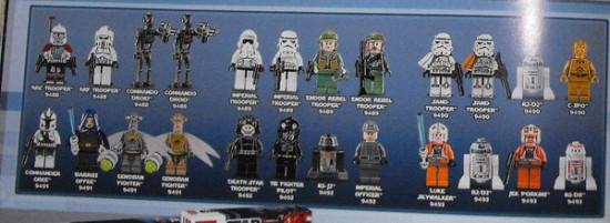 Mini fig star wars lego