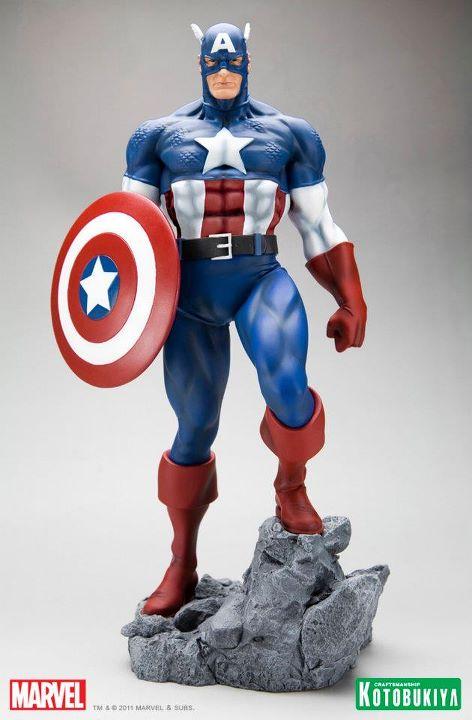 Marvel Captain America Classic Avengers Fine Art Statue