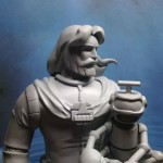 Ulysse 31 au cartoniste 2013 la sculpture avance