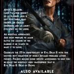 Evil Dead 2 par NECA : la back card du blister