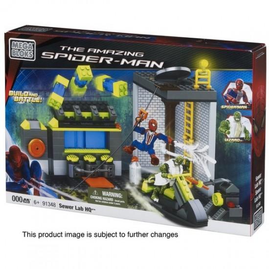 spiderman mega-bloks sewer lab