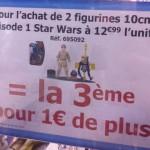 Star Wars des promos chez Toys R us