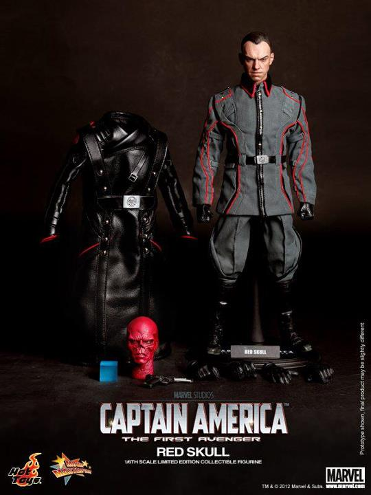 captain america red skull Hot toys