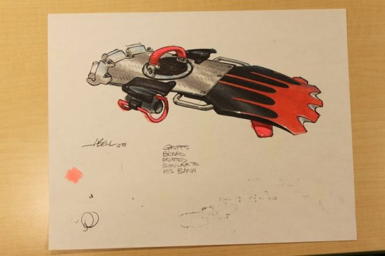hoverboard concept art back to the future 2