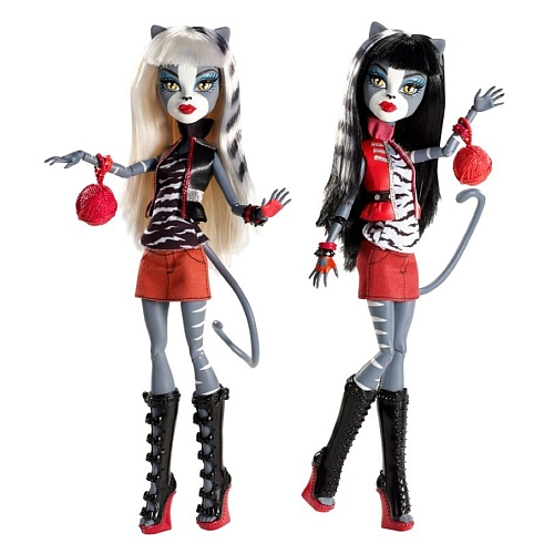 Monster High Pack 2 soeurs Miaoulodie et Veronronique