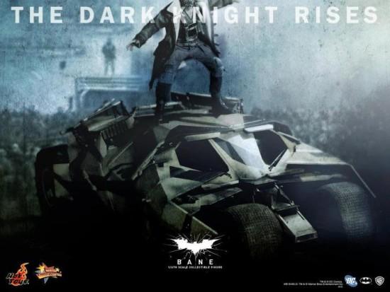 The dark knight rises Bane Batmaobile camoufalge HOT TOYS