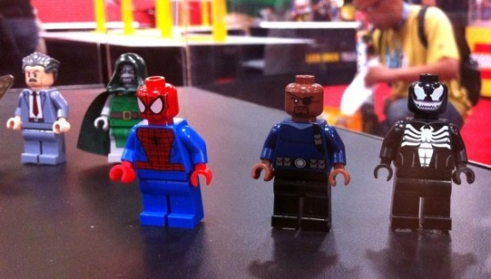 sdcc2012 new heroes minifig MARVEL Spider-Man nick fury