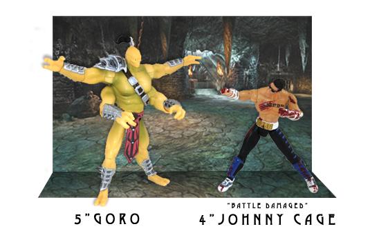 GORO et Johnny cage battle damaged