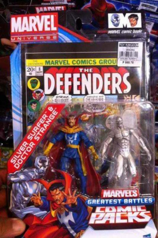 Marvel Universe Comic Pack Docteur Strange Silver Surfer