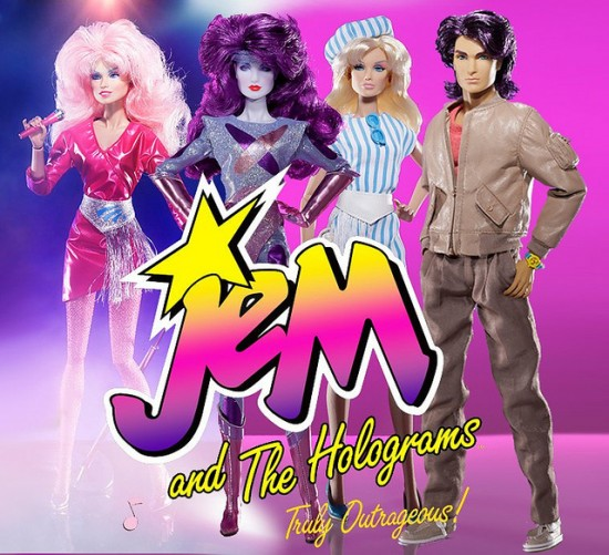 Jem and The Holograms clasic : Jem, Synergy, Jerrica, Rio