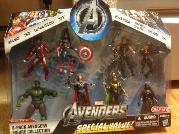 The Avengers 8pack Hasbro traget