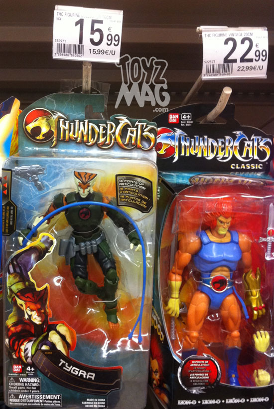 Thundercats bandai Tigra 6inch bandai Lion-O classics