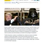 Disney rachète Lucasfilm et annonce Star Wars Episode 7 pour 2015 !