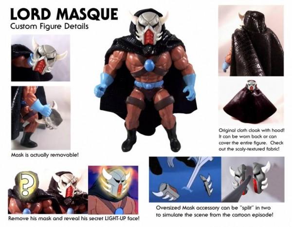 lord Masque Barbarossa Art Lulu-Berlu Maitres de l'univers neo-vintage