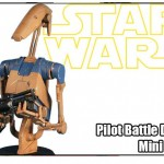 Star Wars : buste du Pilot Battle Droid en préco