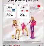 Une publicité comparative pour le cheval de Barbie !
