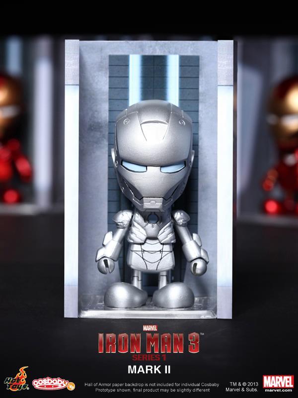 hot toys iron man 3 cosbabies series 1 - 4