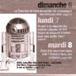 L'Expo Jouets Star Wars recommandé dans le Pariscope de cette semaine