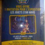 Expo Star Wars : promo chez La Grande Récré