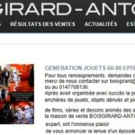 Génération Jouets 60-80 (enchères Drouot) : une 2ème vente en 2013 !!!