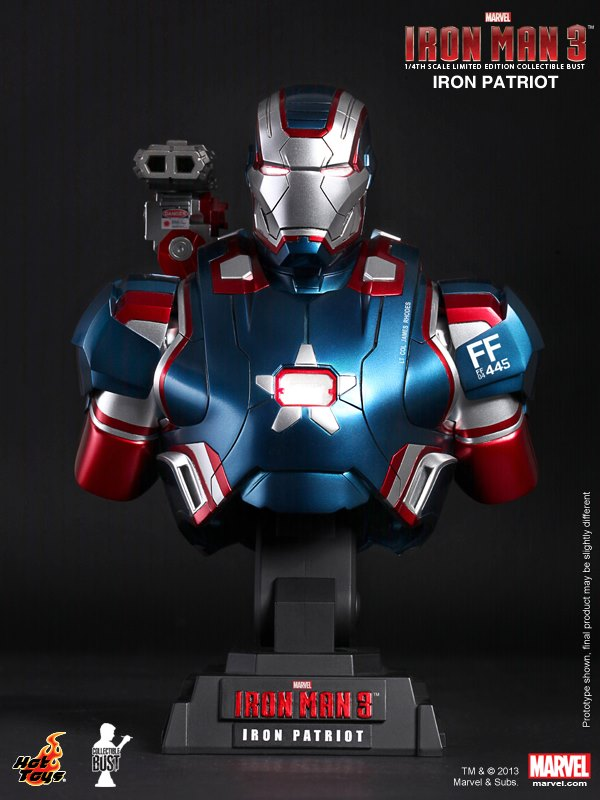 Iron Man 3 14th scale Iron Patriot Collectible Bust 01