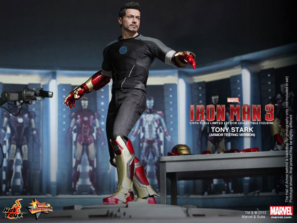 Tony Stark (Armor Testing Version) Collectible Hot Toys