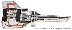 SDCC Hot Wheels Battlestar Galactica Colonial Viper 02