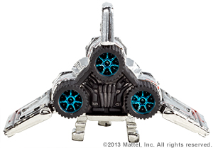 SDCC Hot Wheels Battlestar Galactica Colonial Viper 03