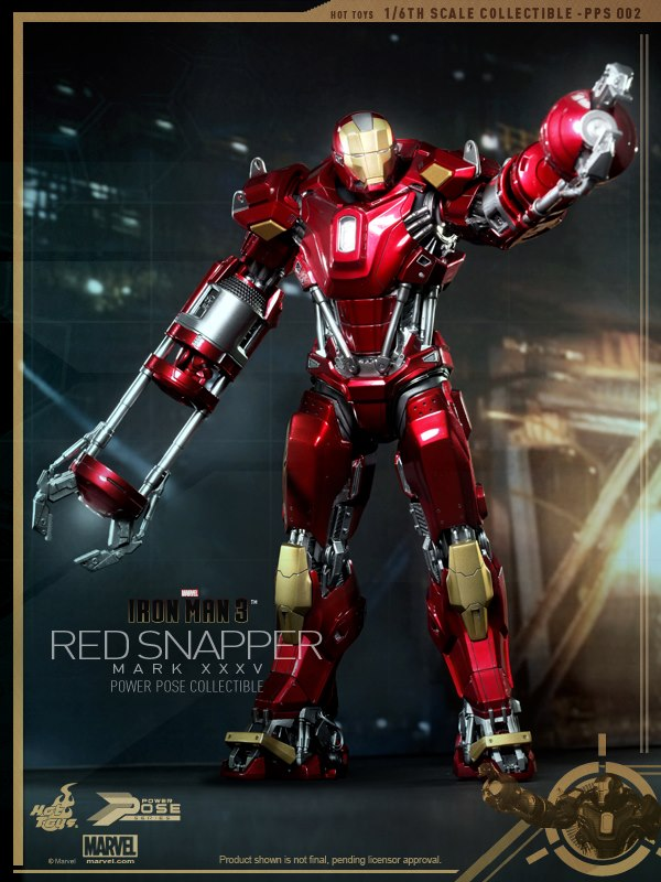 hot toys iron man 3 red snapper mk35 1