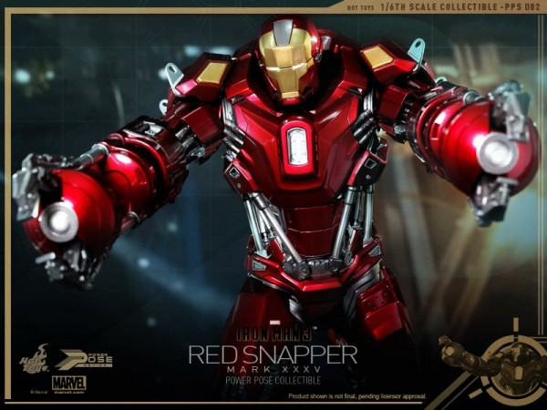 hot toys iron man 3 red snapper mk35 10