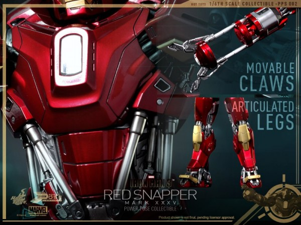 hot toys iron man 3 red snapper mk35  11