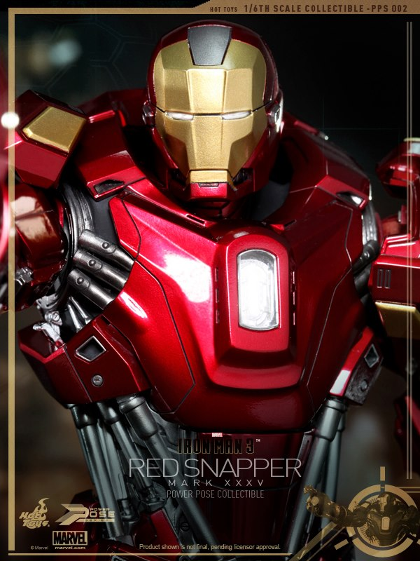 hot toys iron man 3 red snapper mk35  13