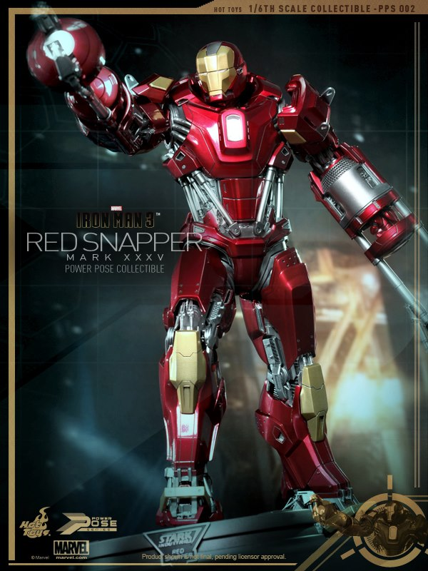 hot toys iron man 3 red snapper mk35  4