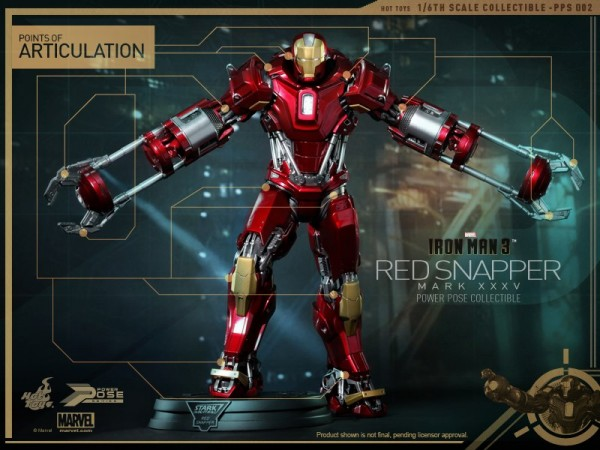 hot toys iron man 3 red snapper mk35  5