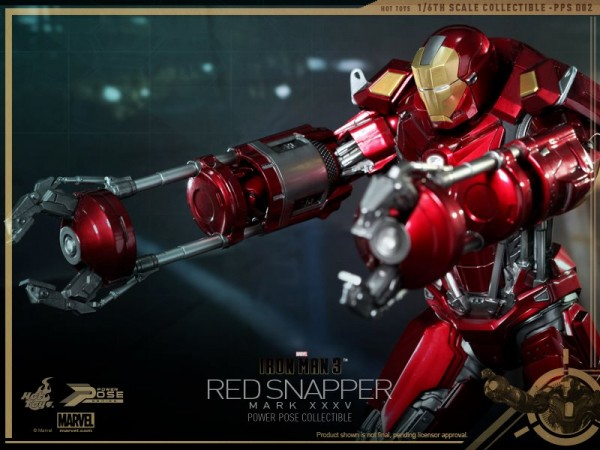 hot toys iron man 3 red snapper mk35  8