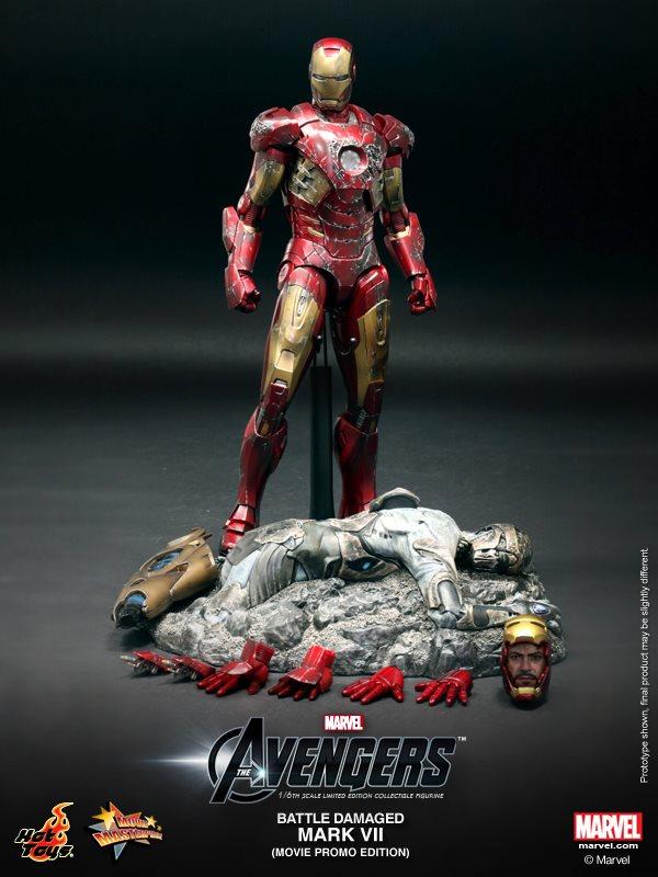 hot toys iron man mark VII damaged 10