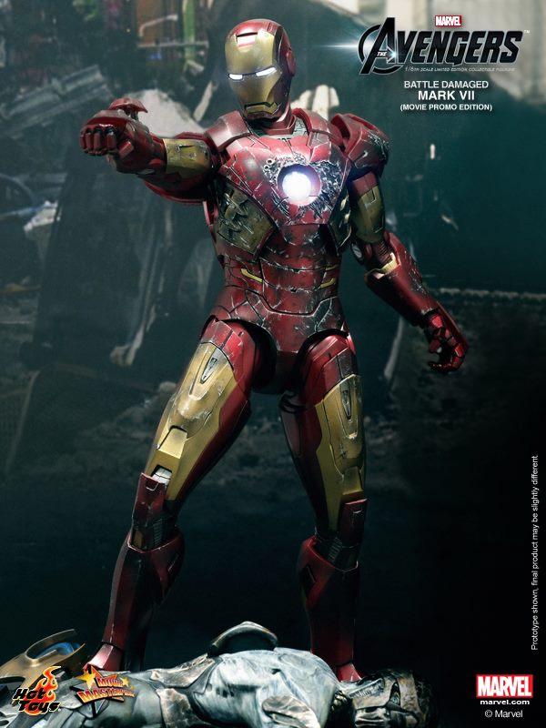 hot toys iron man mark VII damaged 5
