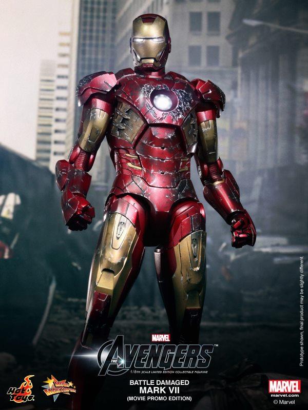 hot toys iron man mark VII damaged 6